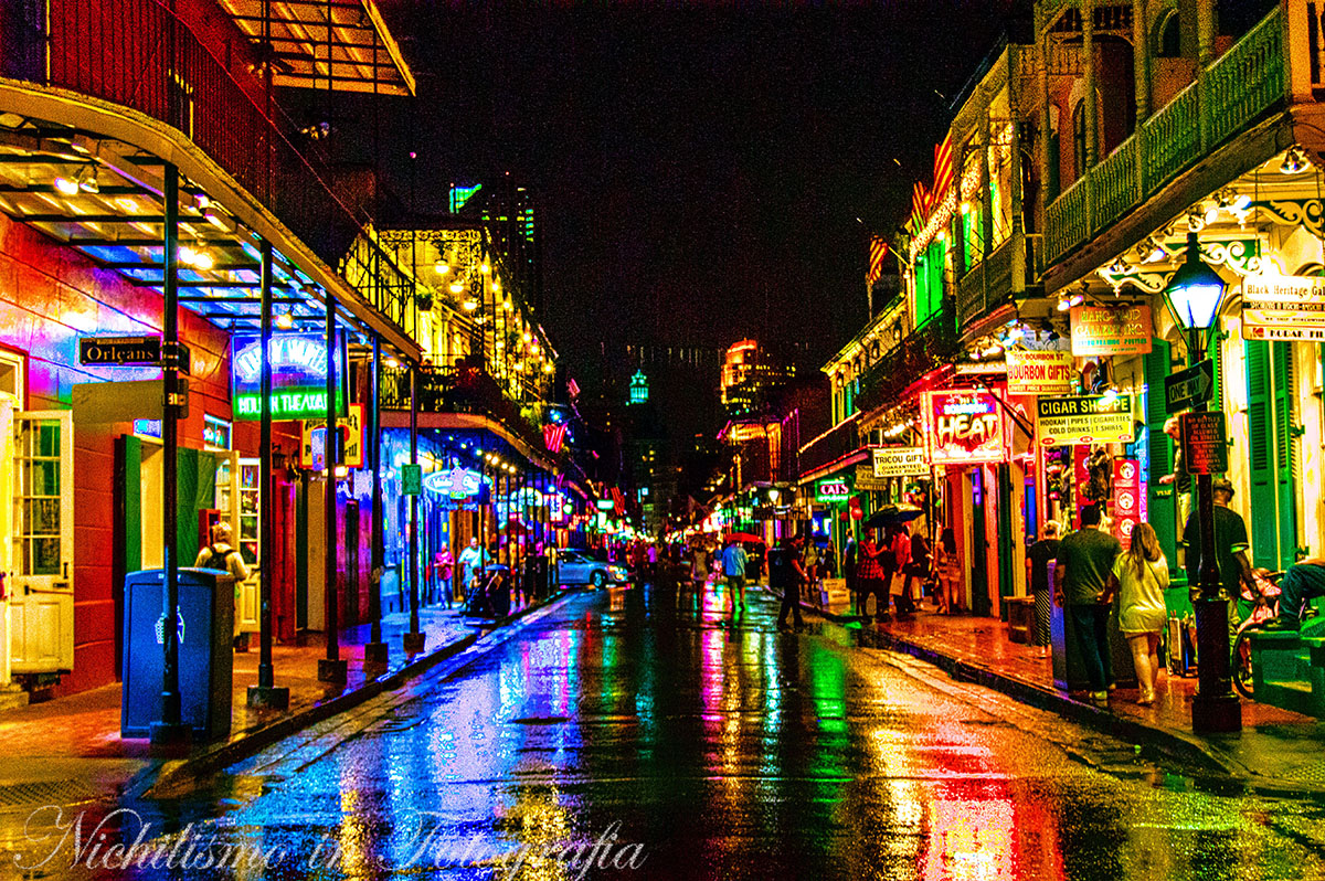 Rainy Night on Bourbon Street (French Quarter, New Orleans)