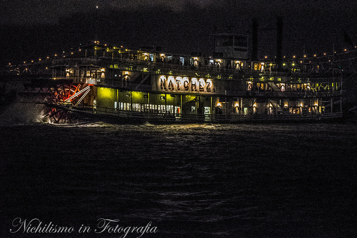 Natchez Steamboat at Night (Mississippi River, French Quarter, New Orleans)