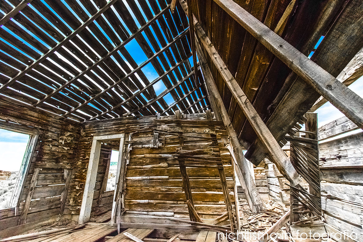 House at Abandoned Piedmont Ghost Town (Wyoming)