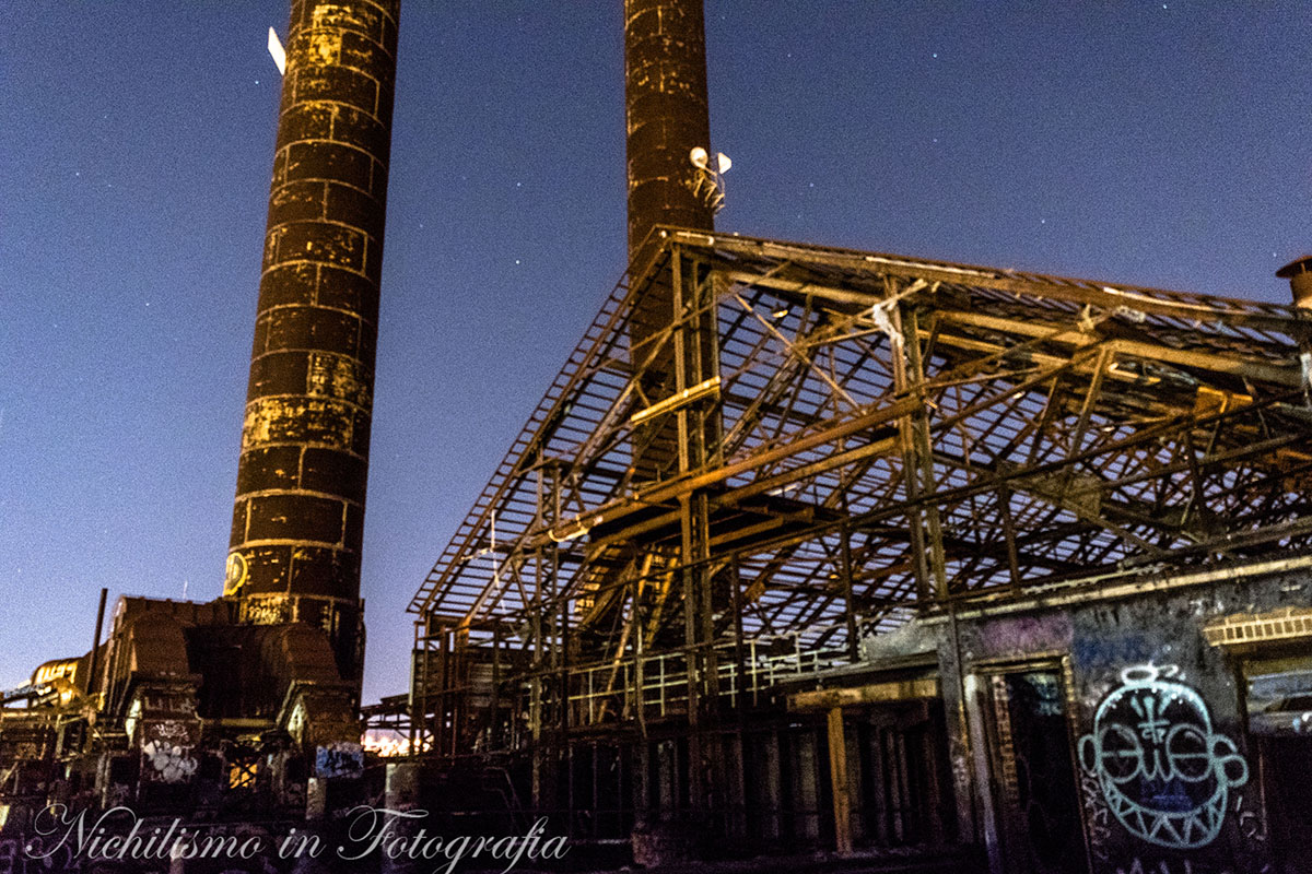 Power Plant at Night (abandoned Market Street Power Plant, New Orleans)