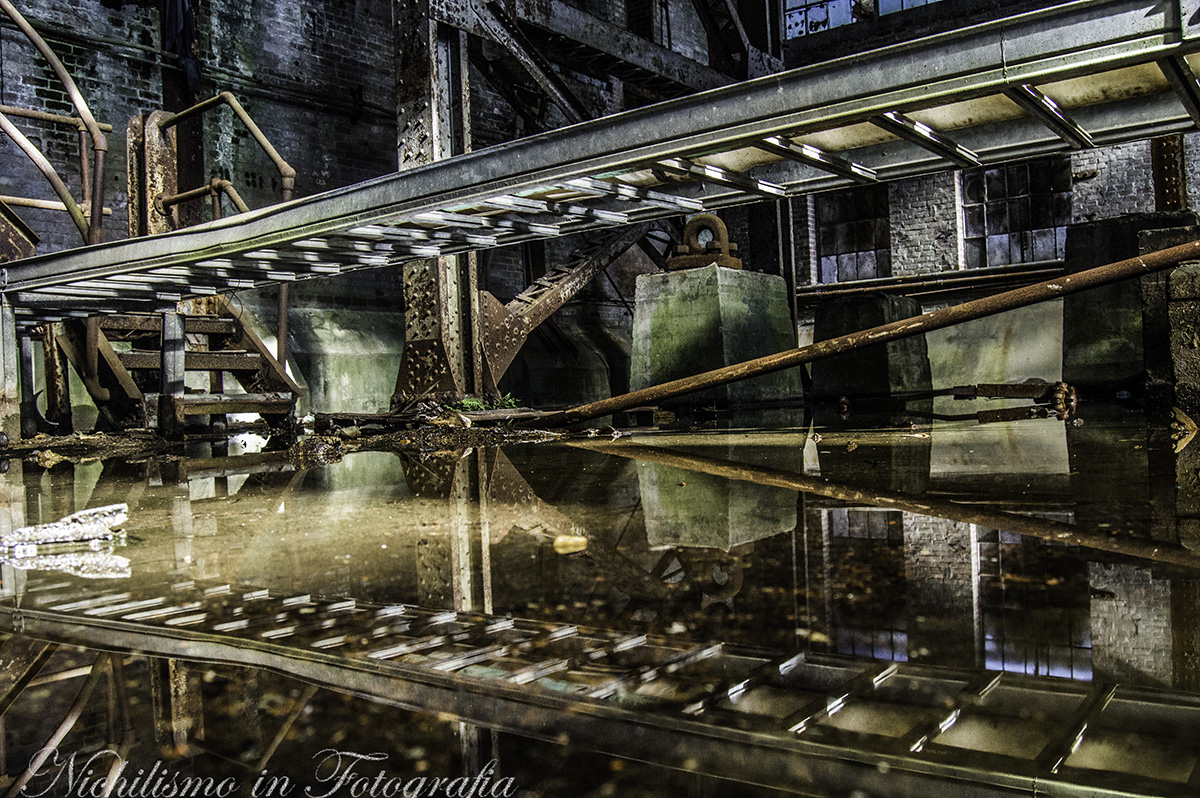 Scaffolding Reflection (abandoned Market Street Power Plant, New Orleans)
