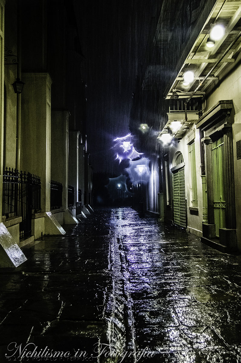 Pirates Alley in the Rain, New Orleans